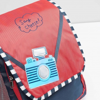 MAX Camera Print Flap Closure Backpack