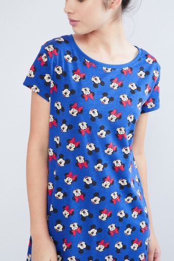 MAX High Low Minnie Mouse Printed Chemise