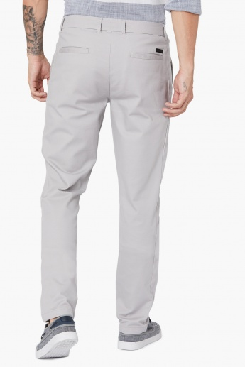 MAX Flat-Front Solid Chinos