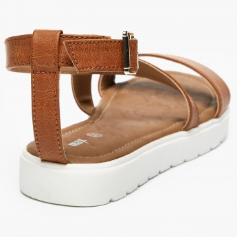 MAX Textured Buckle Closure Flatforms