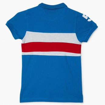 MAX Striped Applique Polo T-Shirt