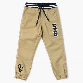 MAX Stripe Trim Appliqued Joggers