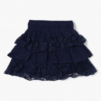 MAX Lace Detail Tiered Skirt