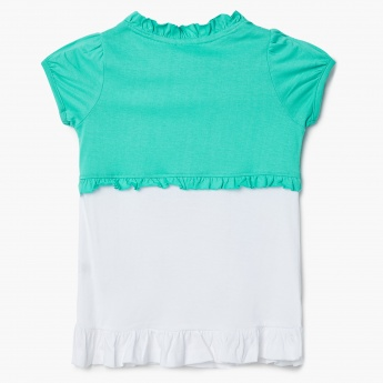 MAX Sequined Mermaid Layered Top