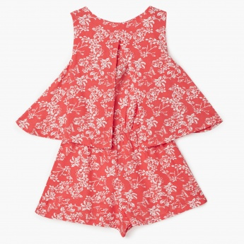MAX Butterfly Print Flared Playsuit