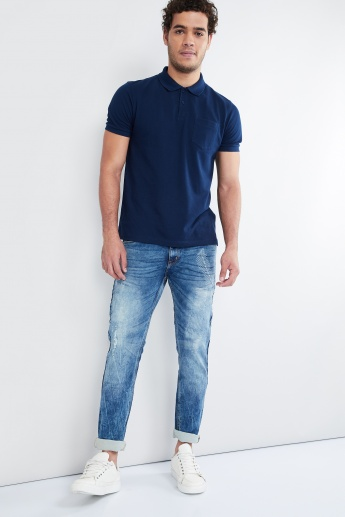MAX Embroidered Low Rise Slim Fit Jeans