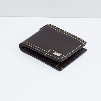 MAX Men Contrast Stitched Leather Wallet