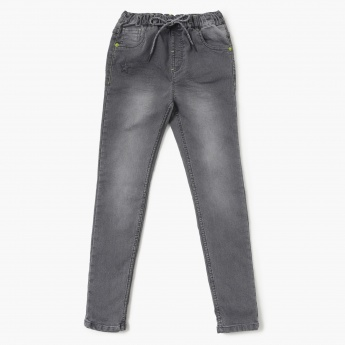 MAX Stone-Washed Elasticated Waist Jeans