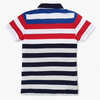 MAX Striped Pique Knit Polo T-shirt
