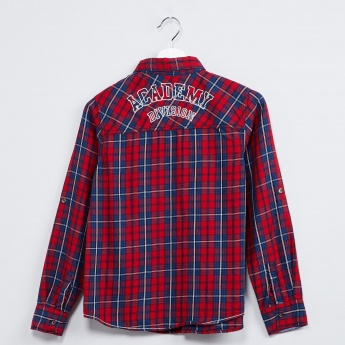 MAX Checked Roll-Up Sleeve Shirt