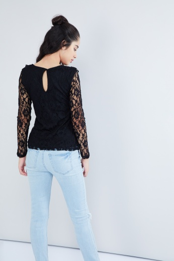 MAX Long-Sleeve Lace Top