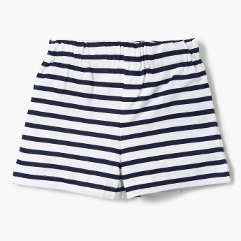 MAX Striped Buttoned Shorts
