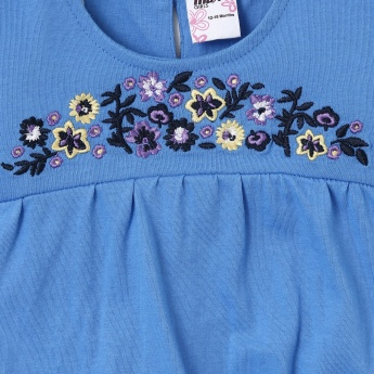 MAX Floral Embroidery Blouson Top