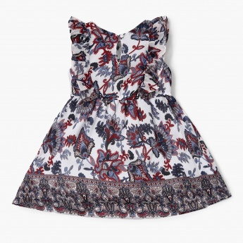 MAX Printed Ruffle Detail Dress