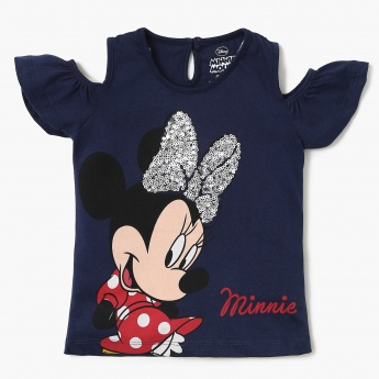 MAX Minnie Mouse Cold Shoulder Top