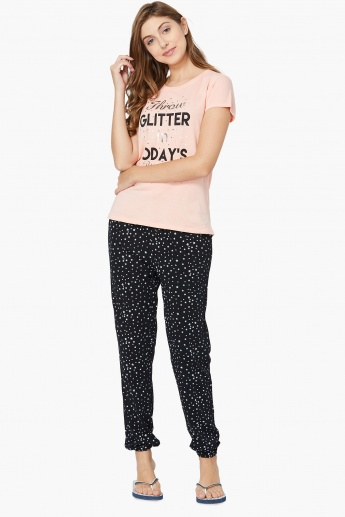 MAX Printed Top And Pyjamas Set- 2 Pcs.