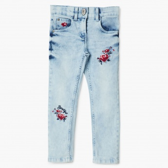 MAX Embroidered Skinny Fit Jeans