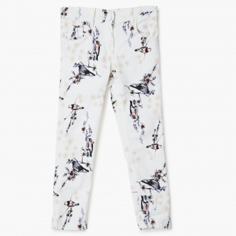 MAX Bird Print Slim Fit Pants