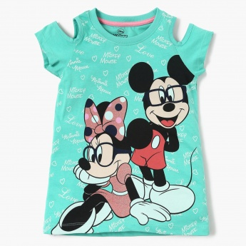 MAX Disney Print Cold Shoulder Top
