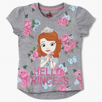 MAX Hello Princess Round Neck Top