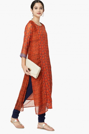 MAX Printed Semi-Sheer Layered Kurta