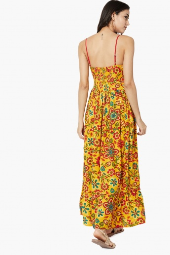 a1d80e55fd9 MAX Floral Print Gathered Maxi Dress