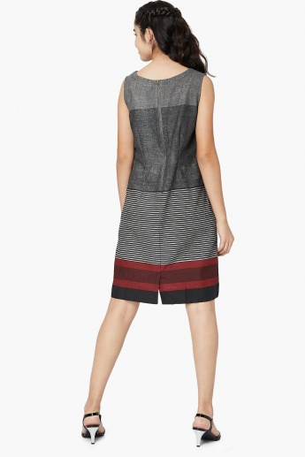 MAX Striped Colourblock Sleeveless Shift Dress