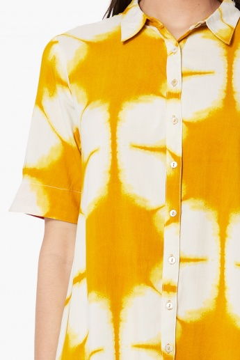 MAX Dyed Shirt Dress with Upturned Hems