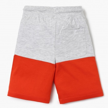 MAX Colourblocked Typography Print Knitted Shorts
