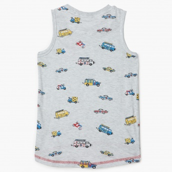 MAX Printed Sleeveless T-Shirt