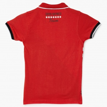 MAX Graphic Print Polo Neck T-Shirt