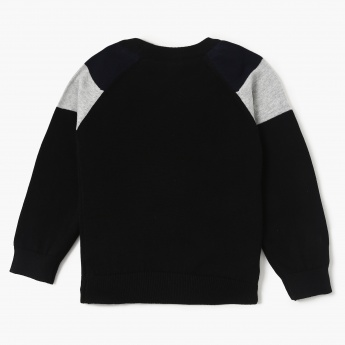 MAX Solid Patch Shoudler Panel Pullover