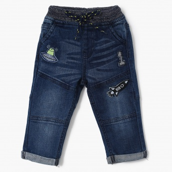 MAX Panelled Patchworked Jeans