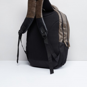 MAX Gear Two-Tone Panelled Travel Backpack