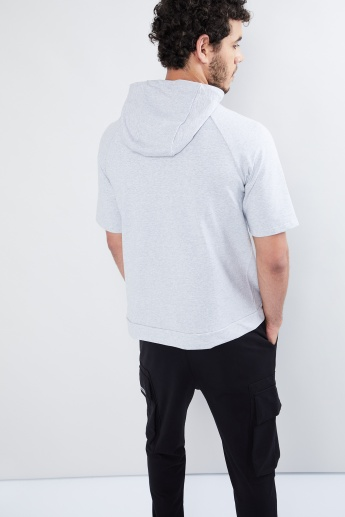 MAX Solid Zip Pocket Hooded Sweatshirt