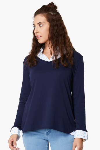 MAX Solid Trim Layered Top