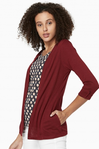 63f3b688a47 MAX Printed Top with Attached Shrug