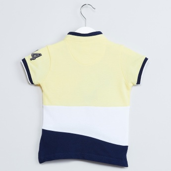 MAX Colourblocked Pique Knit T-shirt