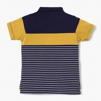 MAX Striped Polo T-shirt with Applique