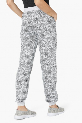 MAX Floral Print Knitted Drawstring Joggers