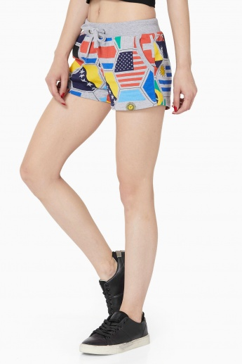 MAX Flag Print Knitted Shorts