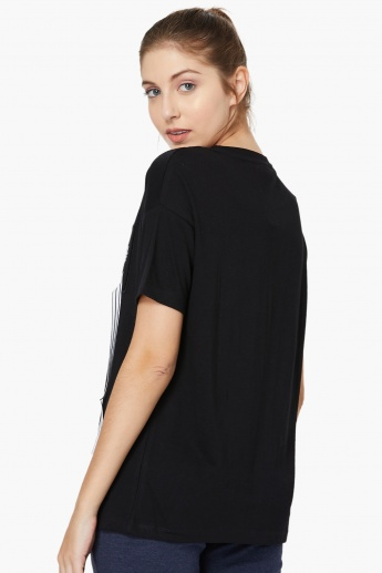MAX Typographic Print Drop-Shoulder T-shirt