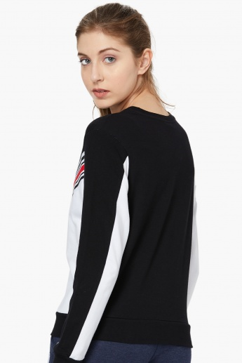 MAX Colourblock Cotton Sweatshirt