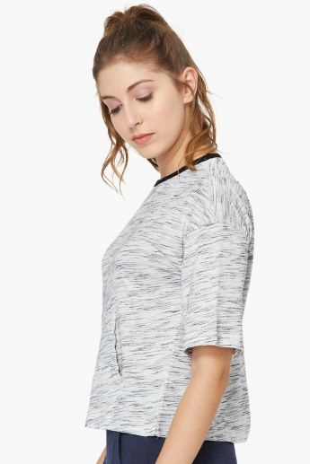 MAX Drop-Shoulder Slub T-shirt