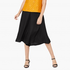 MAX Solid Tasselled Trim Culottes