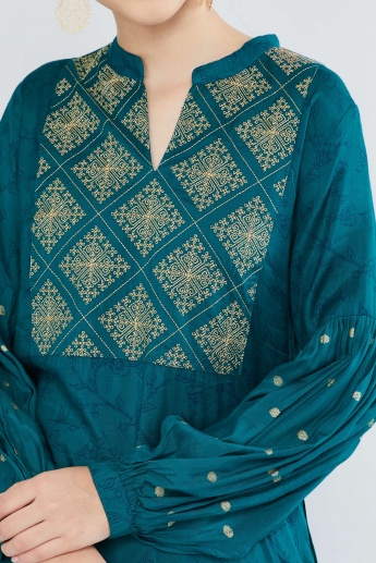 MAX Printed Full-Sleeve Kurta
