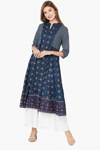 MAX Button Placket Printed Anarkali Kurta