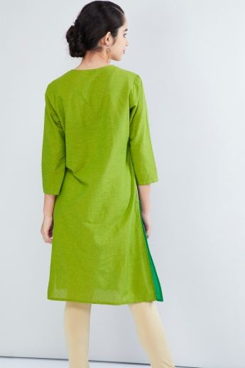 MAX Panelled Three-Quarter Sleeve Kurta