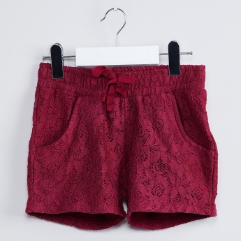 MAX Elasticated Waist Lacy Shorts