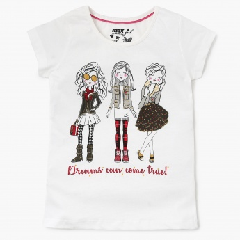MAX Graphic Print T-Shirt With Pants